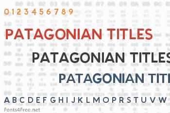 Patagonian Titles Font