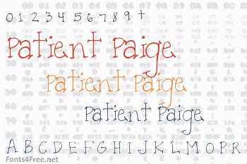 Patient Paige Font