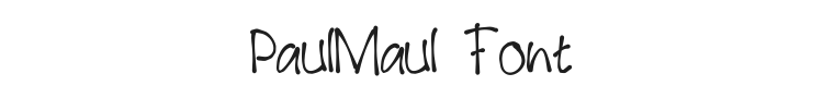 PaulMaul Font Preview