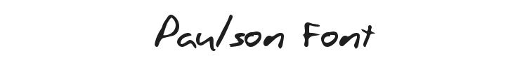 Paulson Font