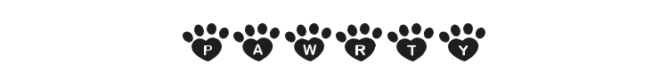 Pawrty Hearty Font