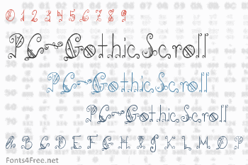 PC-GothicScroll Font