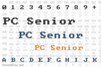 PC Senior Font