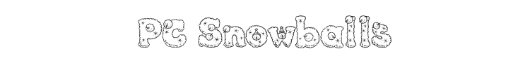 PC Snowballs Font Preview