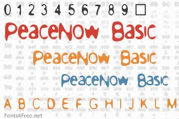 PeaceNow Basic Font