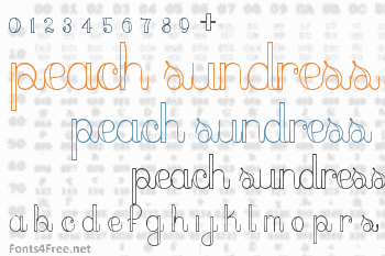 dfefbb42b52 Peach Sundress Font Download - Fonts4Free