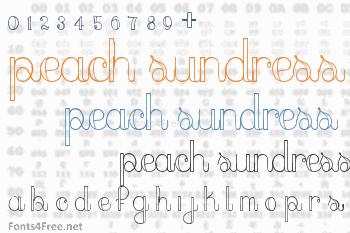 Peach Sundress Font