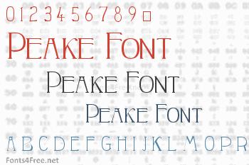 Peake Font