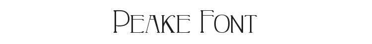 Peake Font Preview