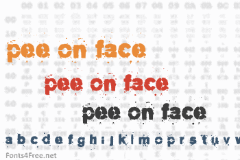 Pee on face Font