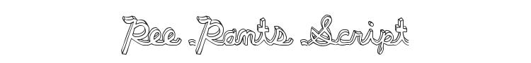 Pee Pants Script Font Preview