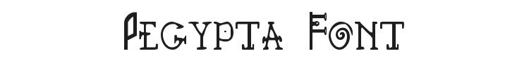 Pegypta Font Preview