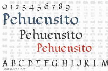 Pehuensito Font