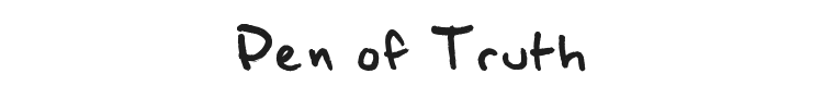 Pen of Truth Font Preview