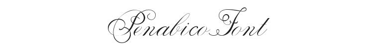 Penabico Font Preview