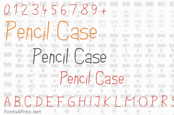 Pencil Case Font