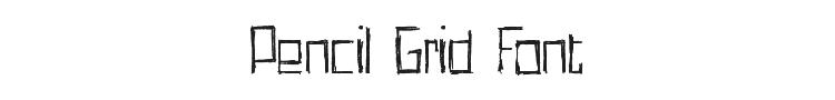 Pencil Grid Font Preview
