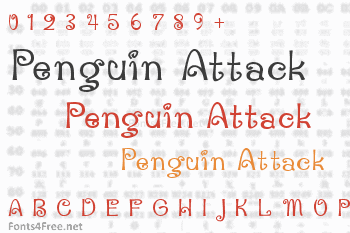 Penguin Attack Font