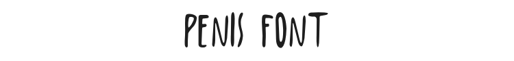 Penis Font