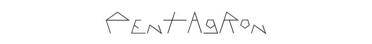Pentagron Font Preview