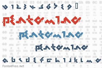 Pentomino Font