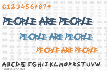 People Are People Font