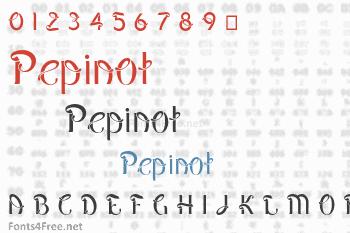 Pepinot Font