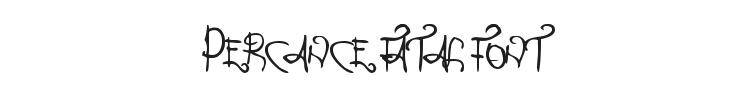 Percance Fatal Font