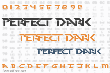 Perfect Dark Font