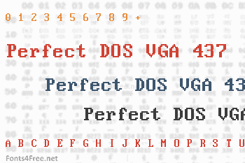 Perfect DOS VGA 437 Font