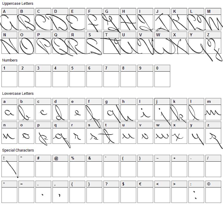 Perhaps Love Font Character Map