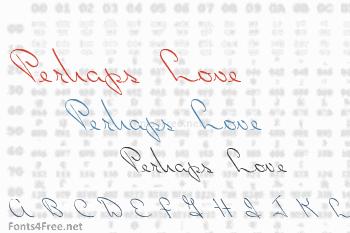 Perhaps Love Font