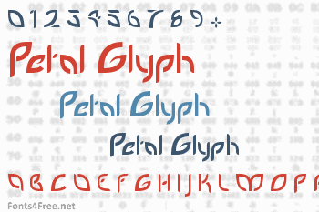 Petal Glyph Font