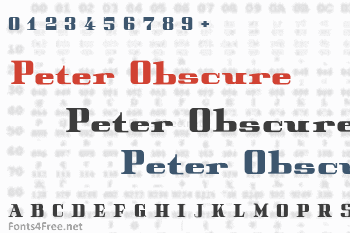 Peter Obscure Font