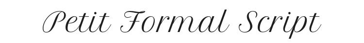 Petit Formal Script Font