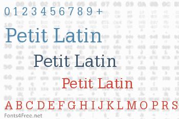 Petit Latin Font