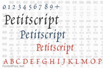 Petitscript Font