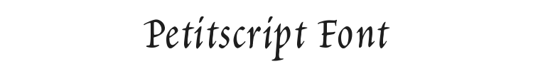 Petitscript Font Preview