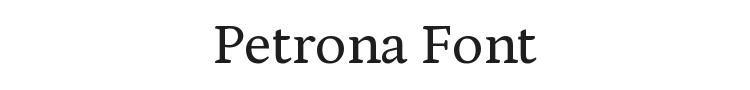 Petrona Font Preview