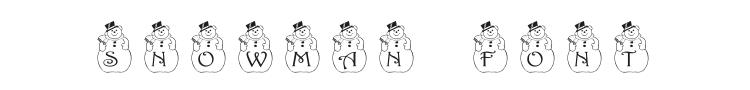 PF Snowman Font Preview