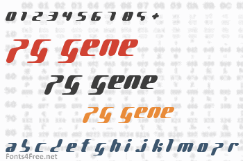 PG Gene Font