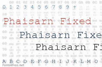 Phaisarn Fixed Font