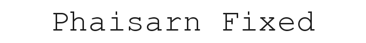 Phaisarn Fixed Font Preview