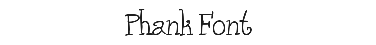Phank Font Preview