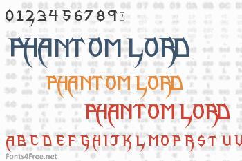 Phantom Lord Lite Font