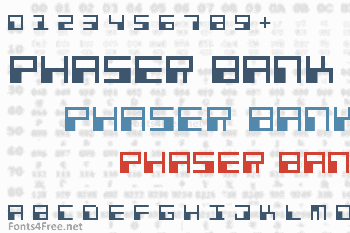 Phaser Bank Font