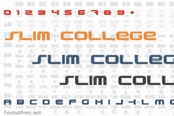PhatBoy Slim College Font