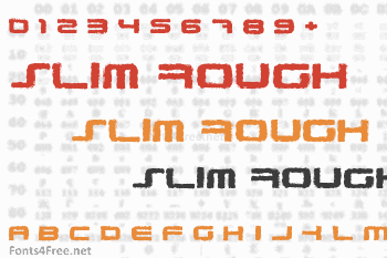 PhatBoy Slim Rough Font
