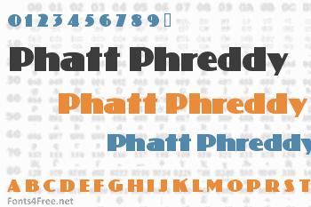 Phatt Phreddy Font
