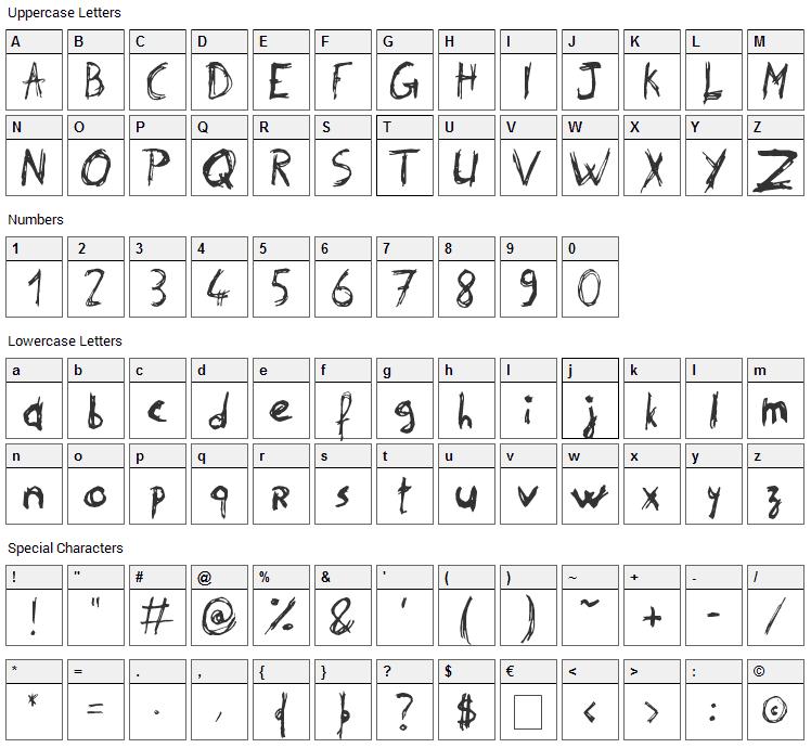 Philip Signature Font Character Map